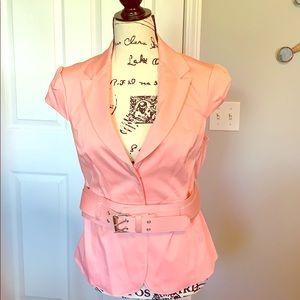 NY&C light pink blazer with belt